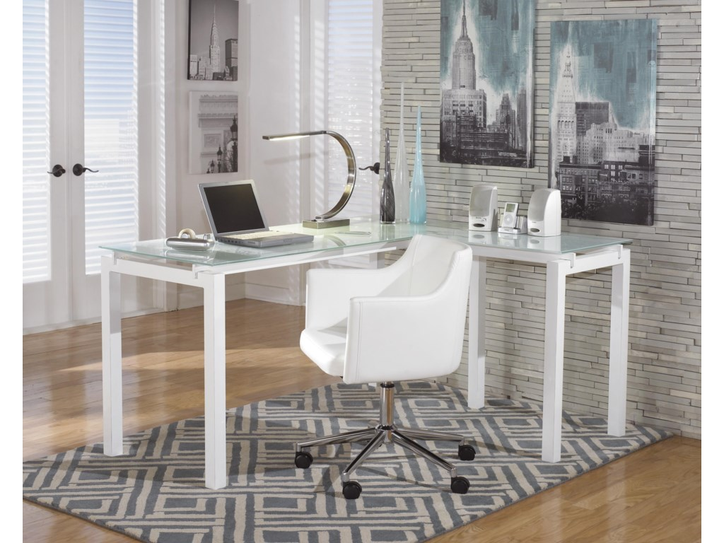 Signature Design by Ashley BaragaL-Desk and Office Chair Set