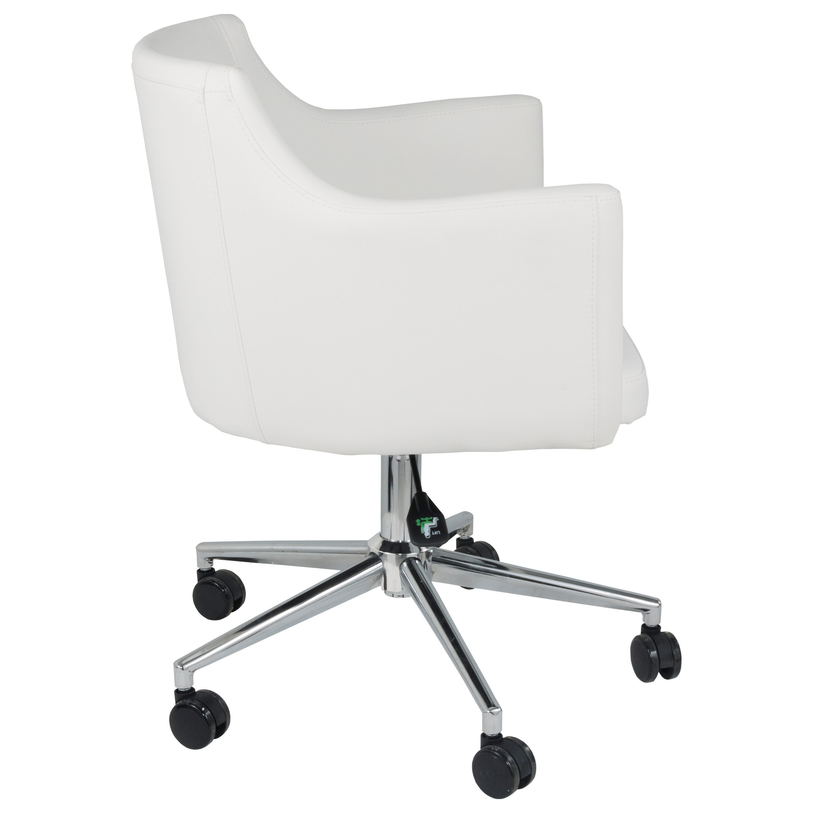 Brizo White Vinyl Home Office Swivel Desk Chair By Signature Design By  Ashley At Rotmans