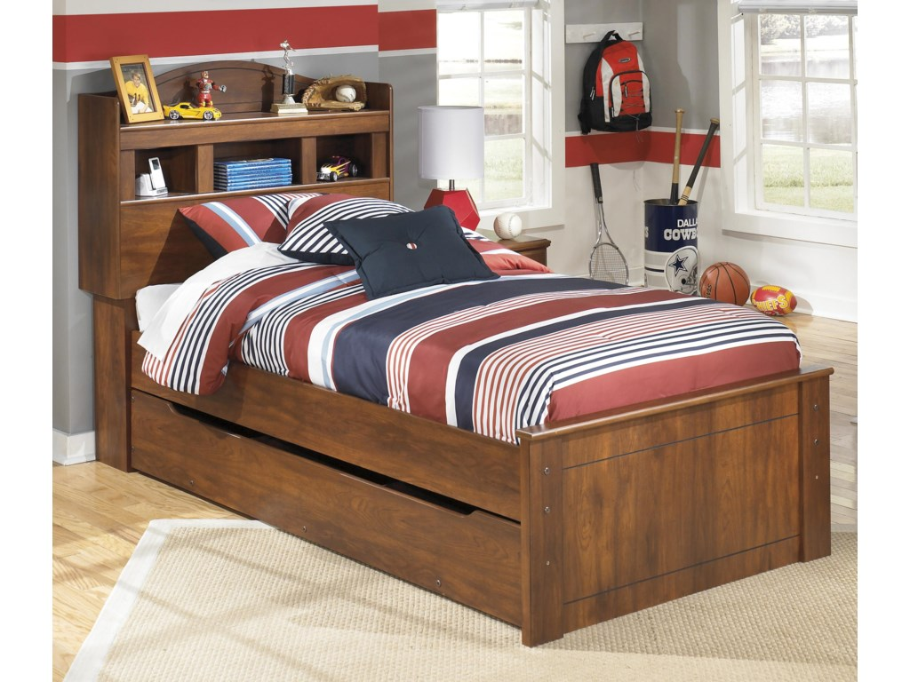 Signature Design by Ashley BarchanTwin Bookcase Bed with Trundle Storage Unit