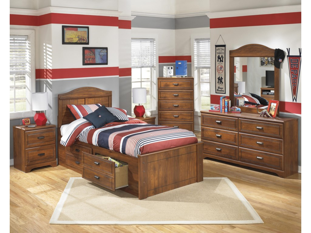 Ashley (Signature Design) BarchanTwin Panel Bed with Underbed Storage