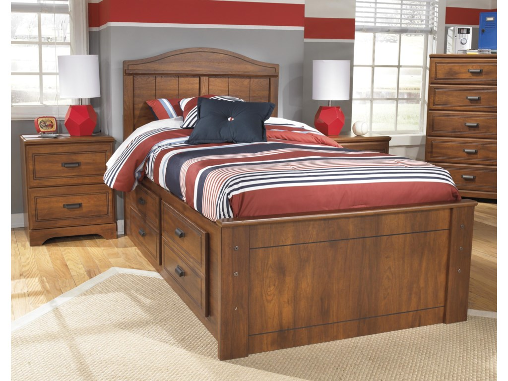 Signature Design by Ashley BarchanTwin Panel Bed with Underbed Storage