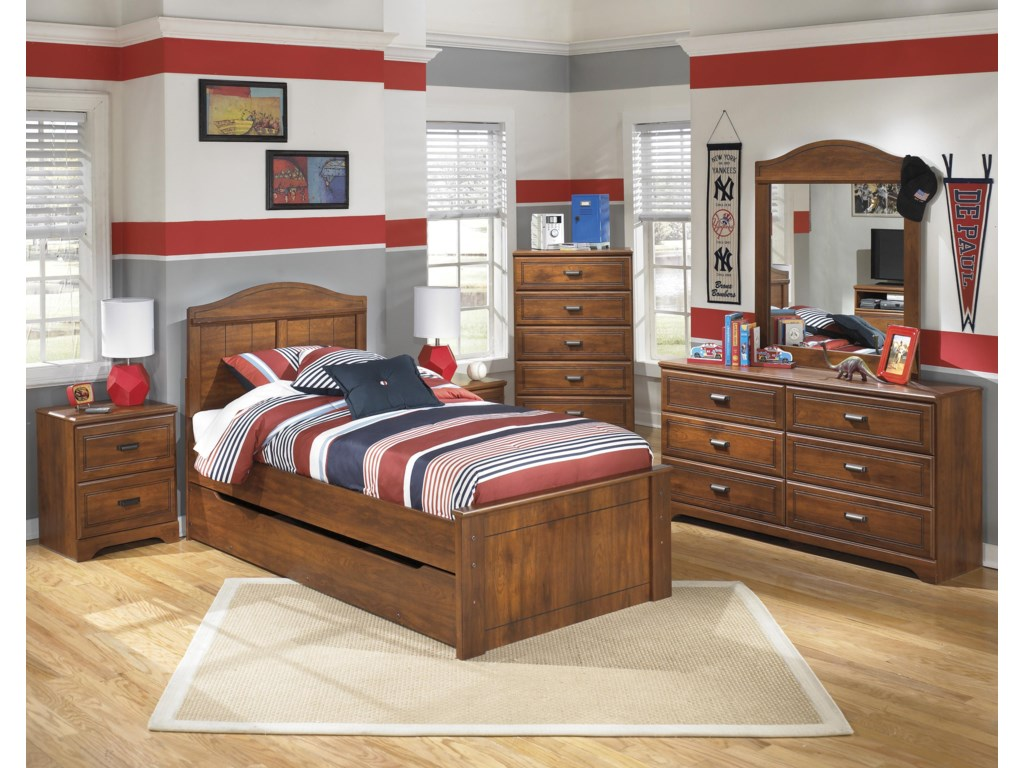 Signature Design by Ashley BarchanTwin Panel Bed with Trundle Storage Unit