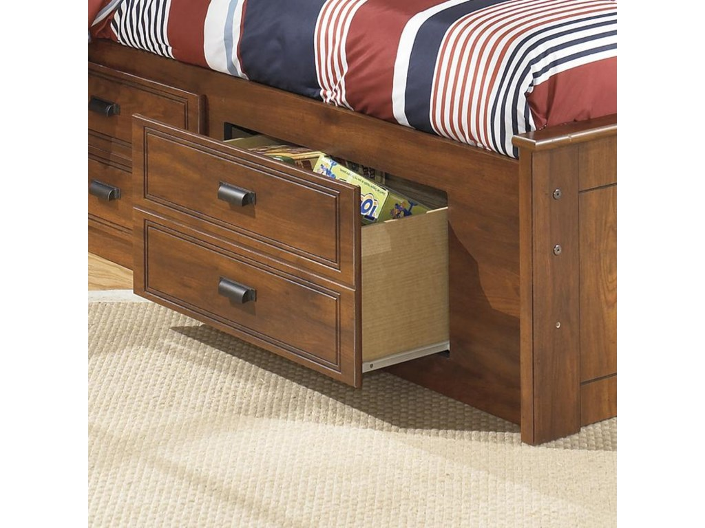 Signature Design by Ashley BarchanTwin Bookcase Bed with Underbed Storage