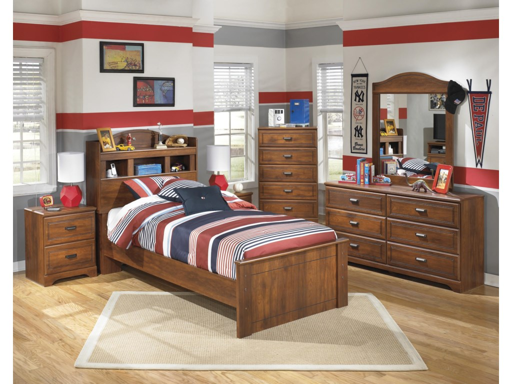 Signature Design by Ashley BarchanTwin Bookcase Bed