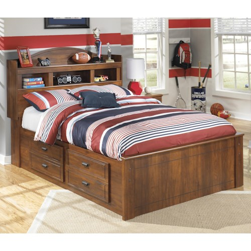 Signature Design By Ashley Barchan Full Bookcase Bed With Underbed Storage Godby Home