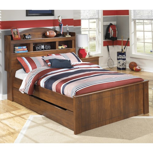 Signature Design by Ashley Barchan Full Bookcase Bed with Trundle Under Bed Storage Unit