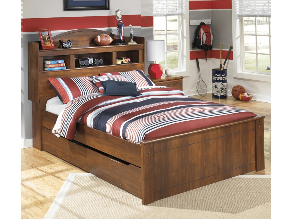 Ashley Signature Design Barchan Full Bookcase Bed With Trundle Under Storage Unit Dunk Bright Furniture