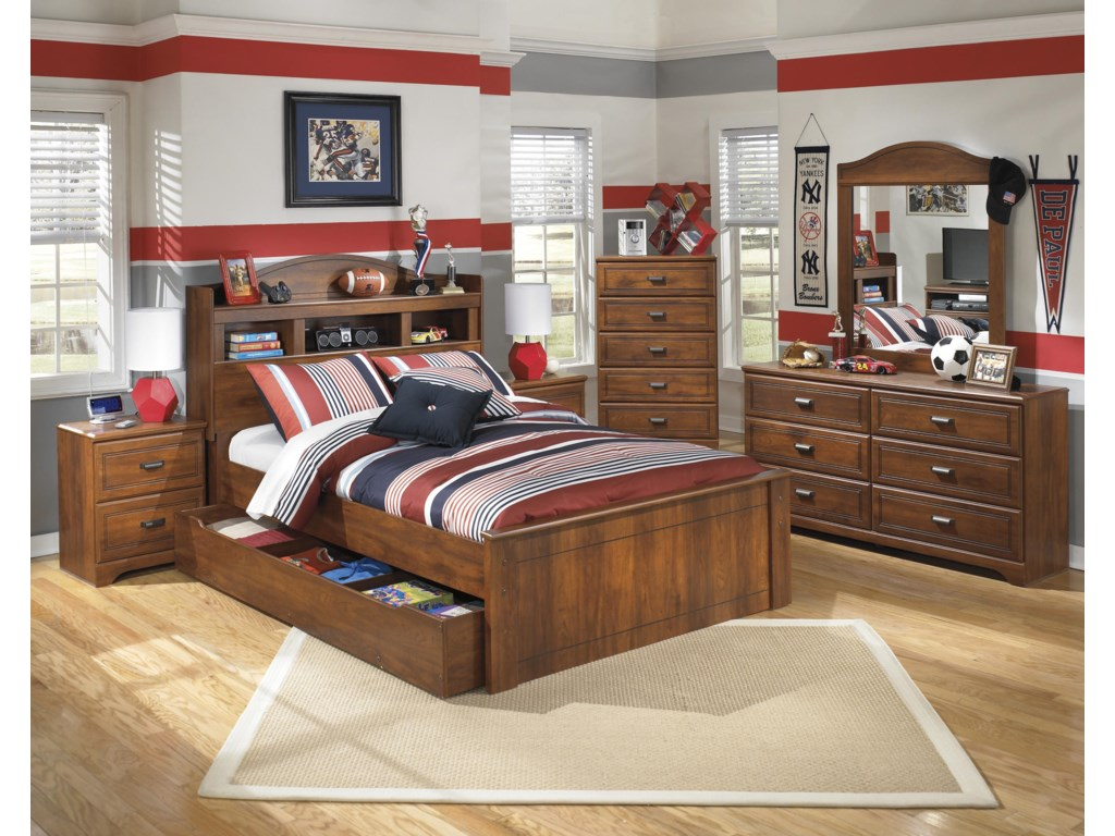 Ashley (Signature Design) BarchanFull Bookcase Bed with Trundle Storage Unit
