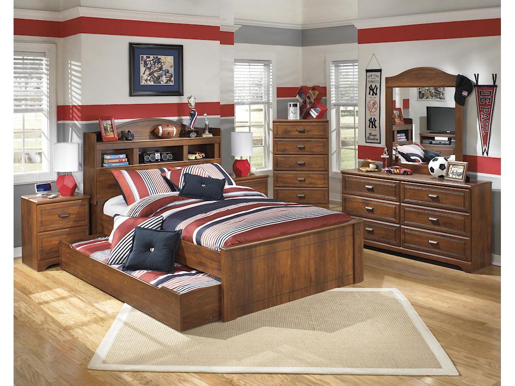 Ashley (Signature Design) BarchanFull Bookcase Bed with Trundle Storage Unit