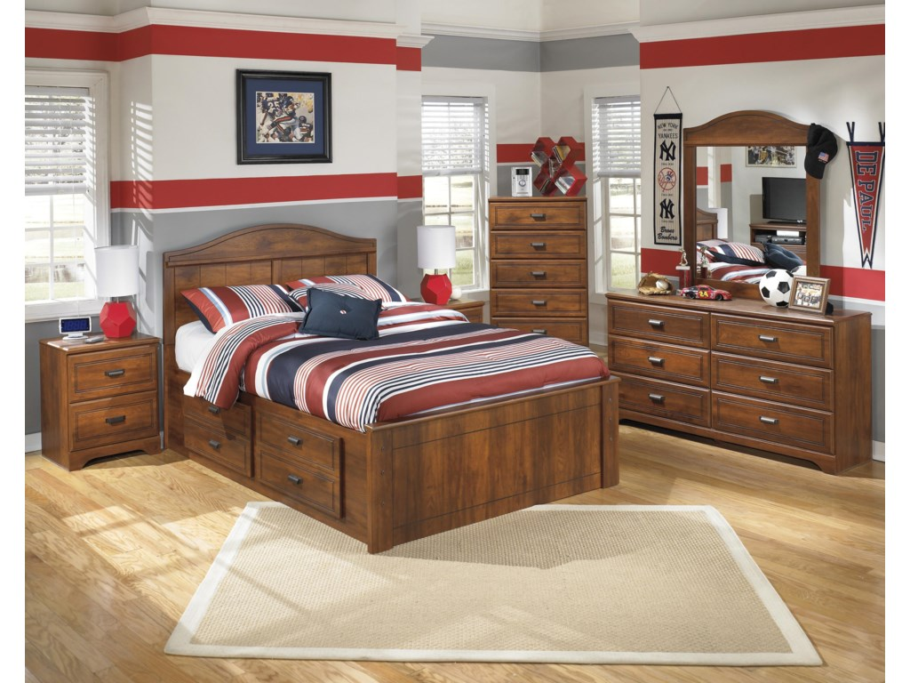 Signature Design by Ashley BarchanFull Panel Bed with Underbed Storage