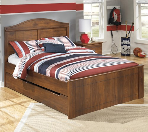 Signature Design by Ashley Barchan Full Panel Bed with Trundle Under Bed Storage Unit