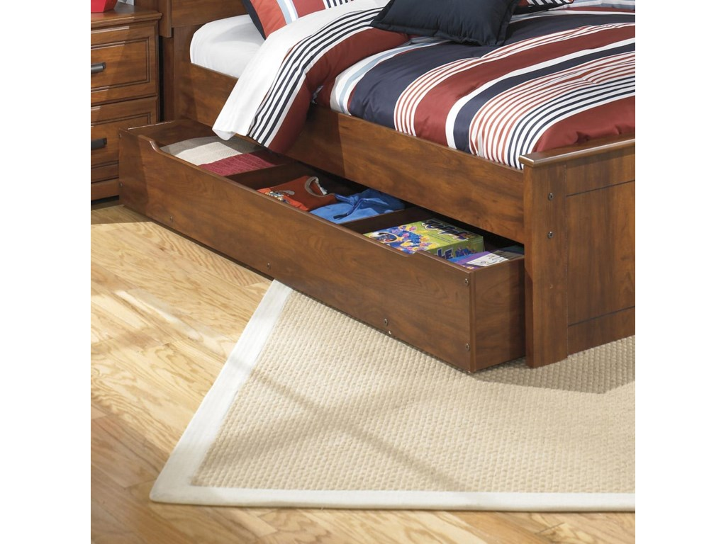 Signature Design by Ashley BarchanFull Panel Bed with Trundle Storage Unit