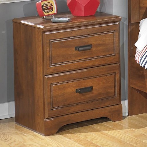 Signature Design by Ashley Barchan Two Drawer Night Stand