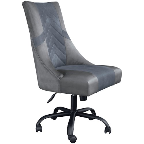 Signature Design by Ashley Barolli Two-Tone Faux Leather High Back Swivel Gaming Chair