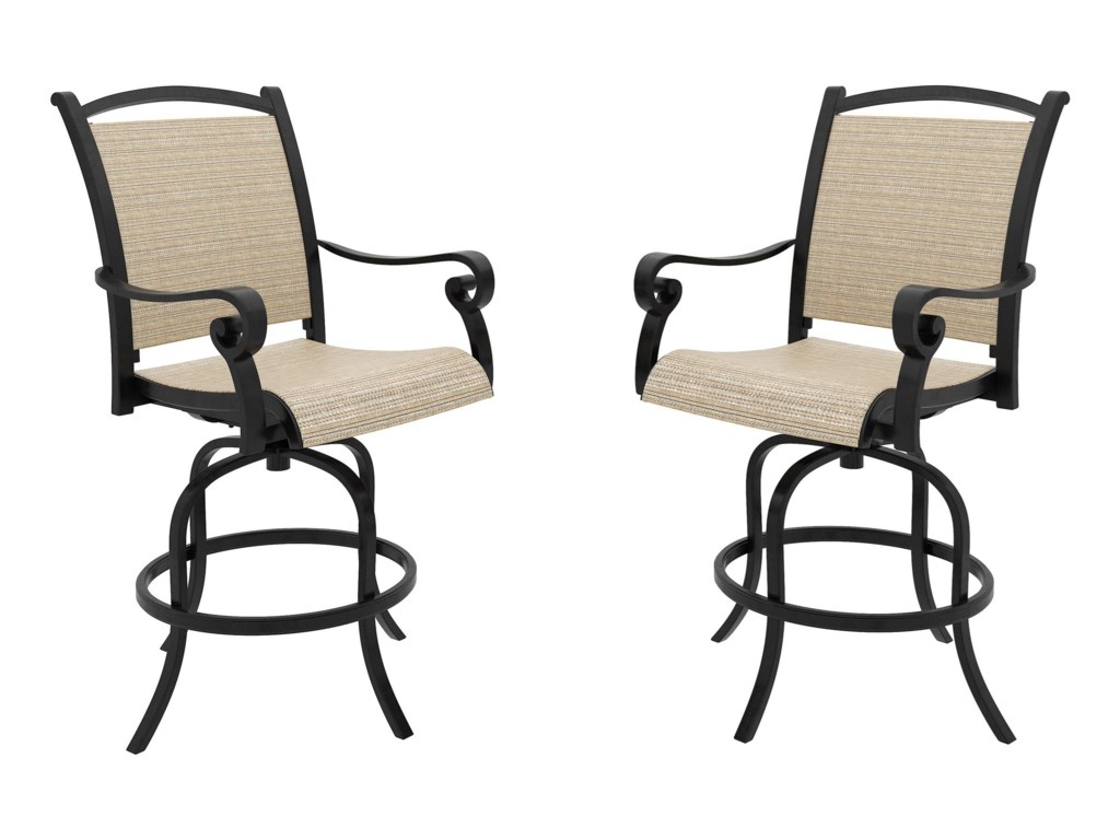 Signature Design by Ashley Bass LakeSet of 2 Sling Barstools