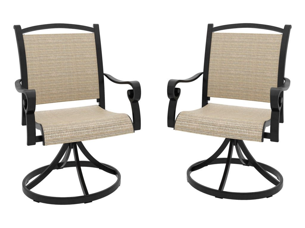 Ashley Signature Design Bass LakeSet of 2 Sling Swivel Chairs