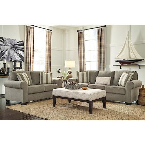 Signature Design by Ashley Baveria Stationary Living Room Group