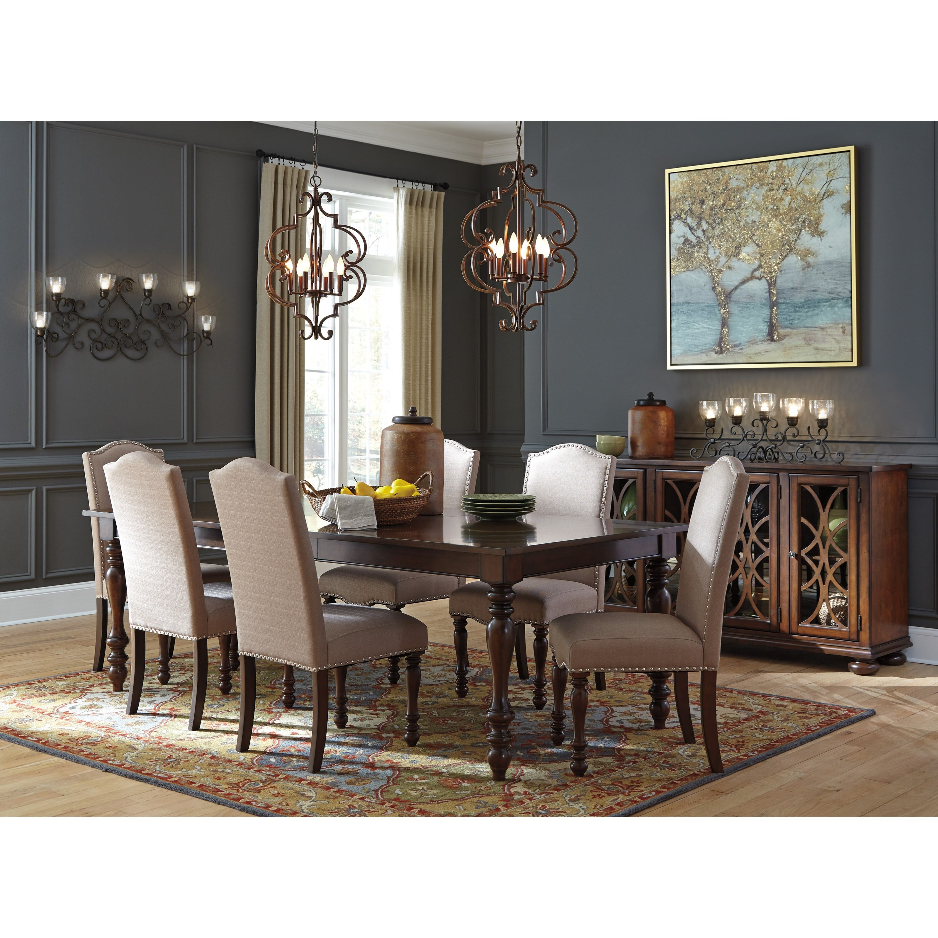 Elegant Baxenburg Formal Dining Room Group By Signature Design By Ashley