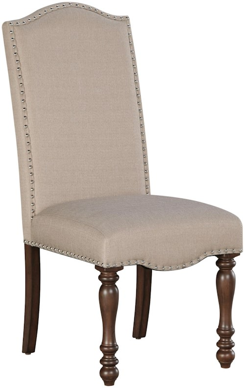Signature Design by Ashley Baxenburg Traditional Dining Upholstered Side Chair with Turned Legs