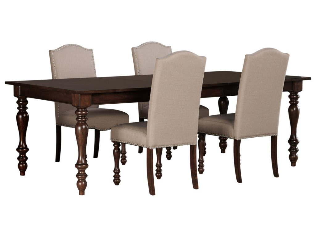 Ashley (Signature Design) Baxenburg5-Piece Dining Room Extension Table Set