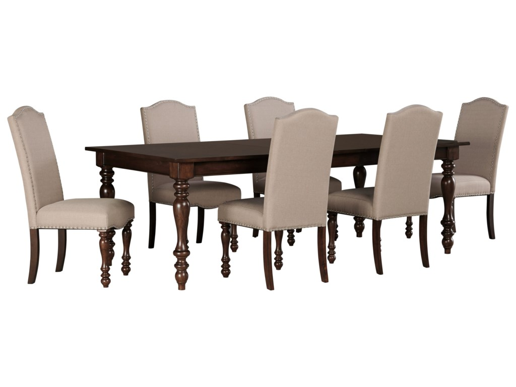Signature Design By Ashley Baxenburg7 Piece Dining Room Extension Table Set