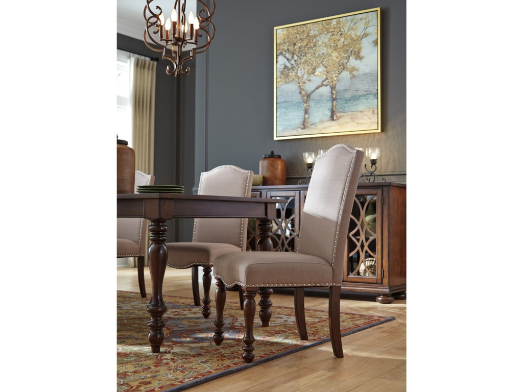 Signature Design by Ashley Baxenburg7-Piece Dining Room Extension Table Set