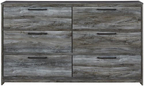 Signature Design by Ashley Baystorm Contemporary 6 Drawer Dresser with Finished Drawer Interiors