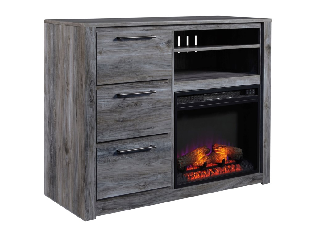 Signature Design by Ashley BaystormMedia Chest with Fireplace Insert