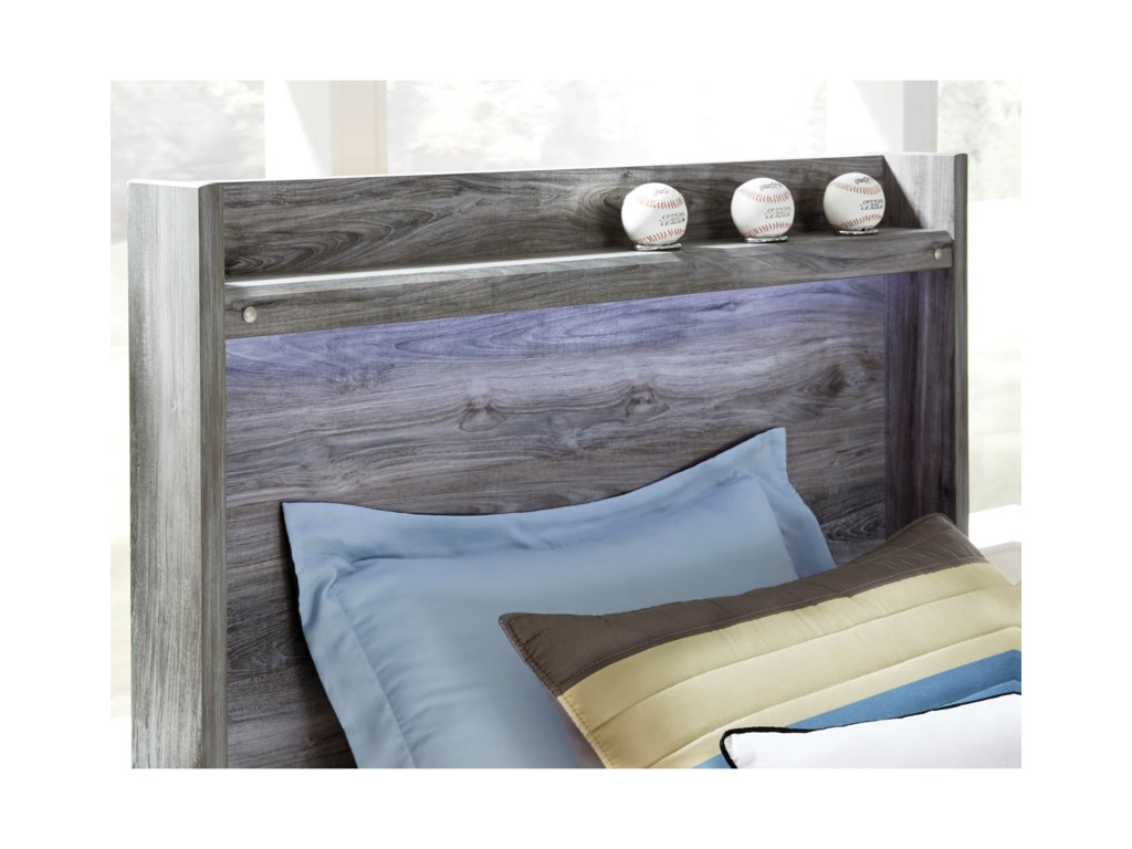 Signature Design by Ashley BaystormTwin Panel Bed with Storage Footboard