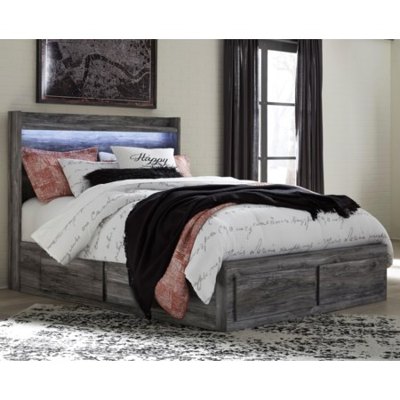 Queen Storage Bed with 6 Drawers