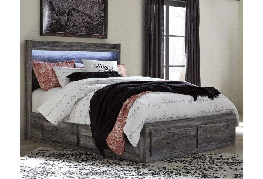 Ashley Signature Design Baystorm Queen Storage Bed With 6 Drawers
