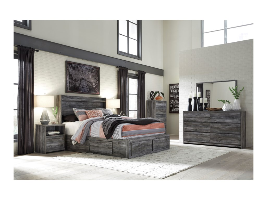 Ashley (Signature Design) BaystormQueen Storage Bed with 6 Drawers