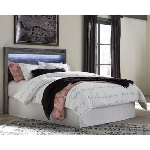Signature Design by Ashley Baystorm Queen Panel Headboard with Dimming LED Light