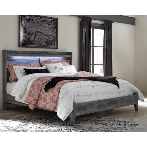 Signature Design by Ashley Baystorm King Panel Bed with Dimming LED Light