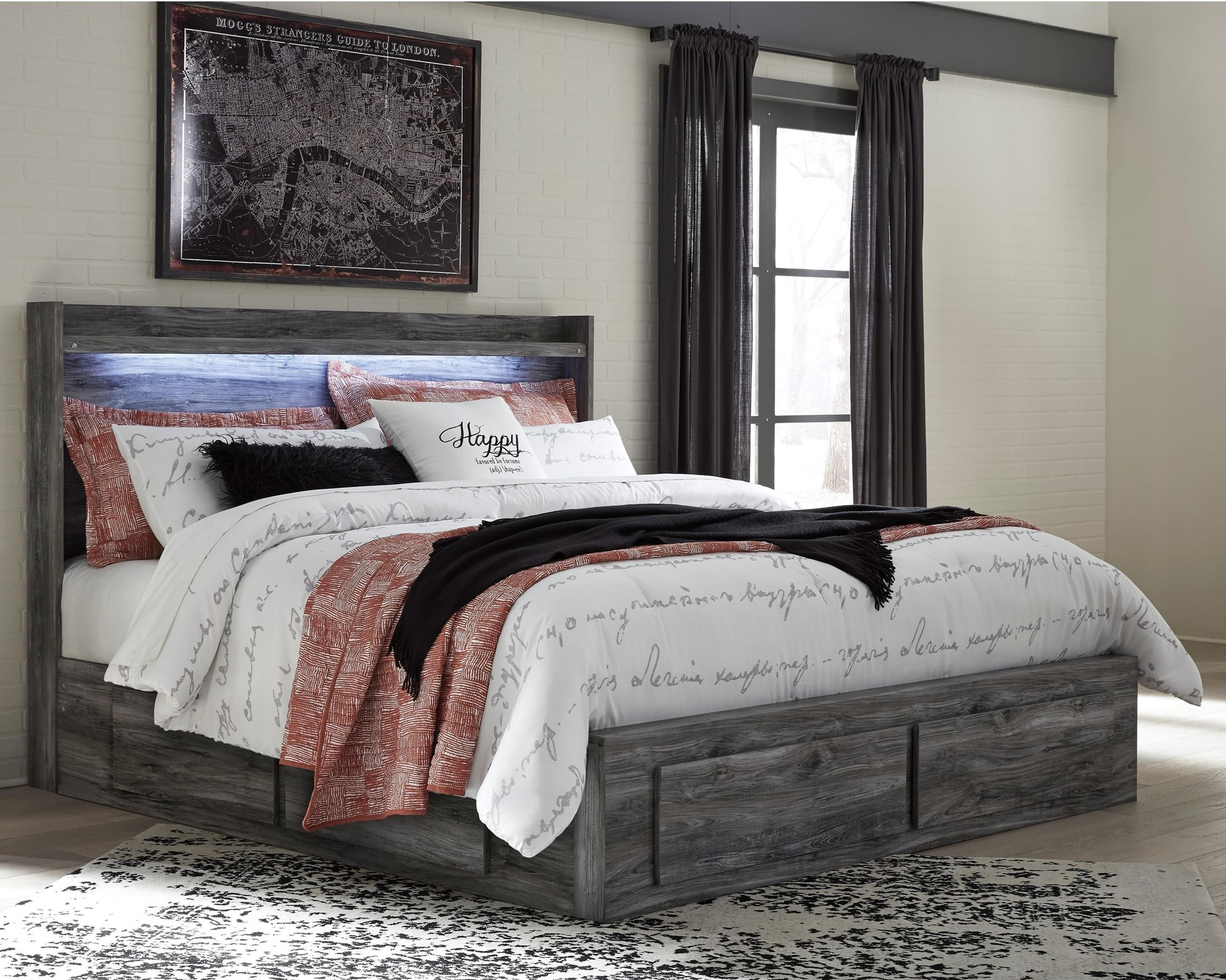 Signature Design by Ashley BaystormKing Storage Bed with 6 Drawers ... & Signature Design by Ashley Baystorm King Storage Bed with 6 Drawers ...