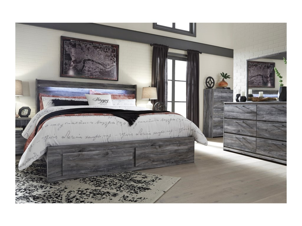 Ashley (Signature Design) BaystormKing Panel Bed with Storage Footboard