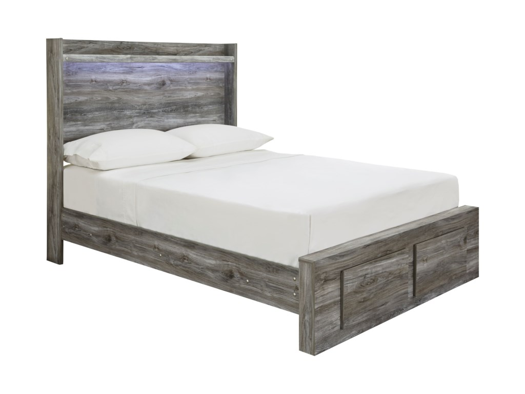 Signature Design by Ashley BaystormFull Panel Bed with Storage Footboard