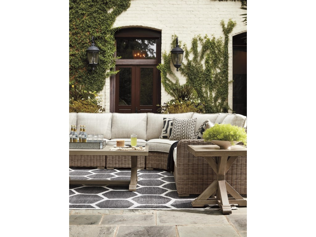 Signature Design by Ashley Beachcroft6 PC Outdoor Conversation Set