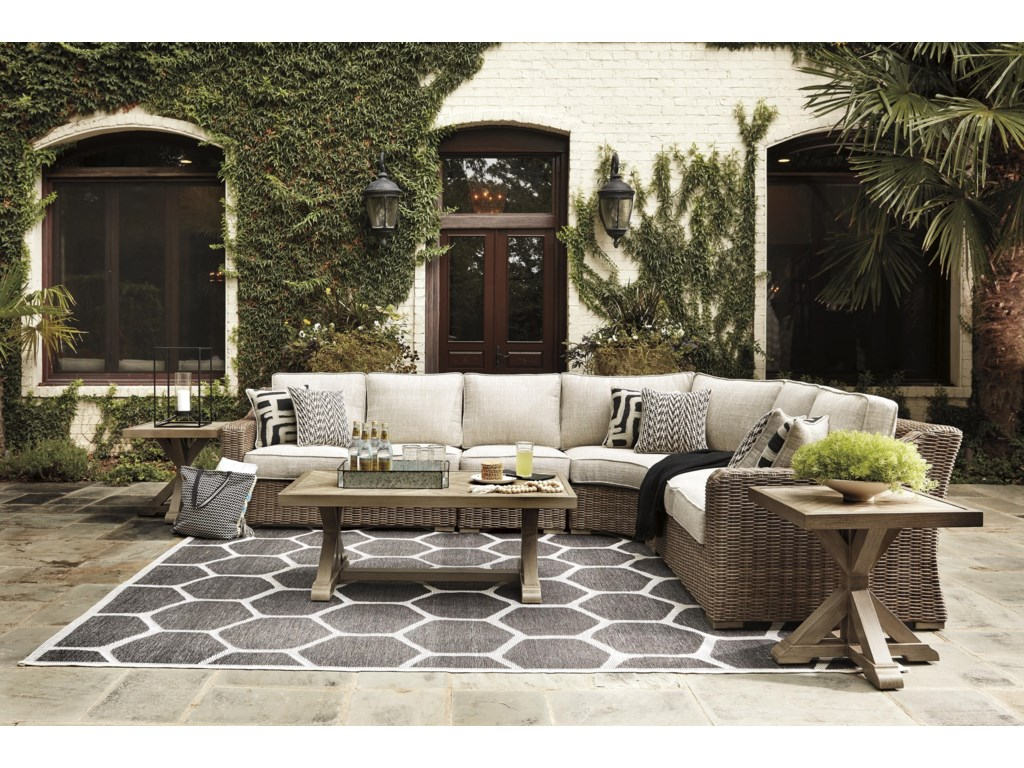 Signature Design by Ashley Beachcroft7 PC Outdoor Conversation Set