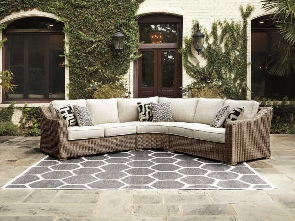 Signature Design by Ashley Beachcroft3 PC Outdoor Conversation Set