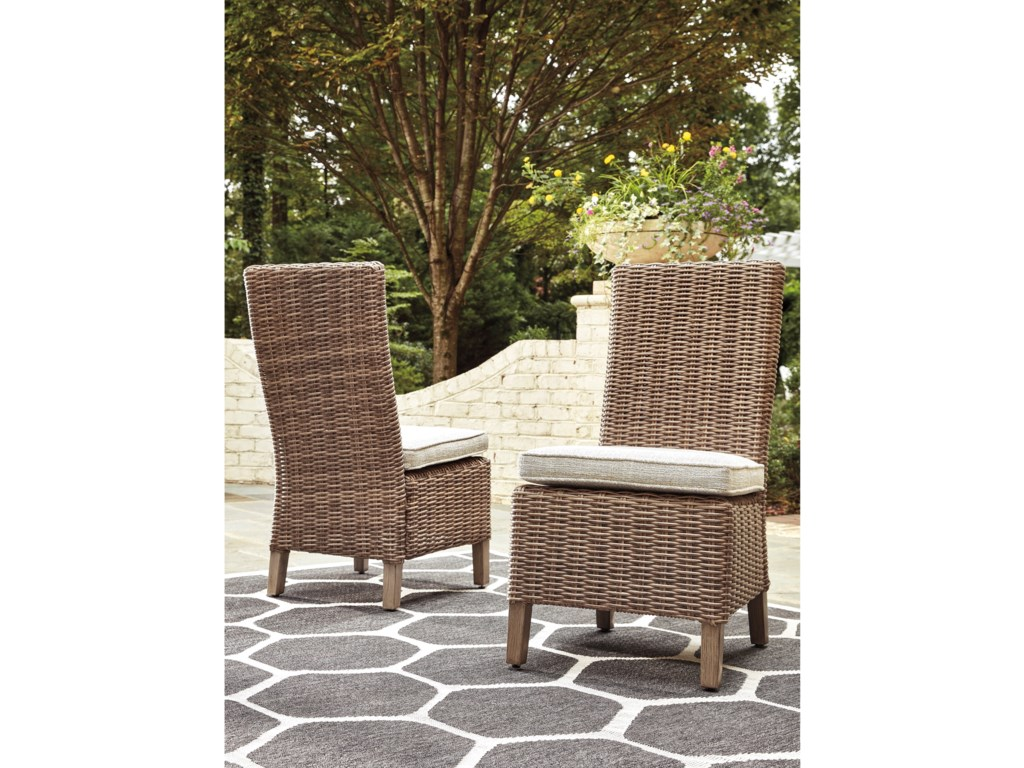 Signature Design by Ashley BeachcroftSet of 2 Side Chairs with Cushion