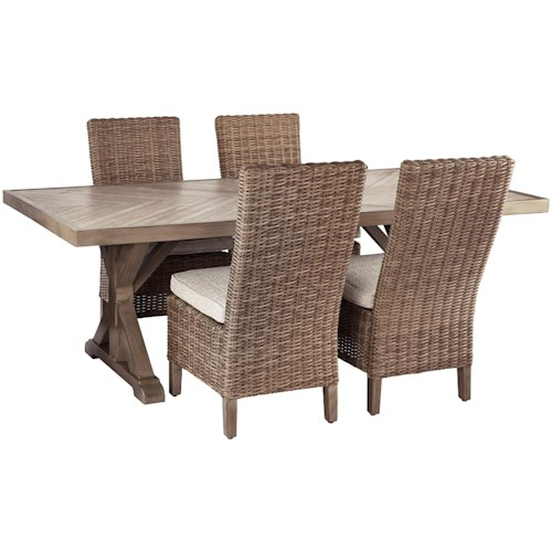 Signature Design by Ashley Beachcroft 5 Piece Outdoor Dining Set