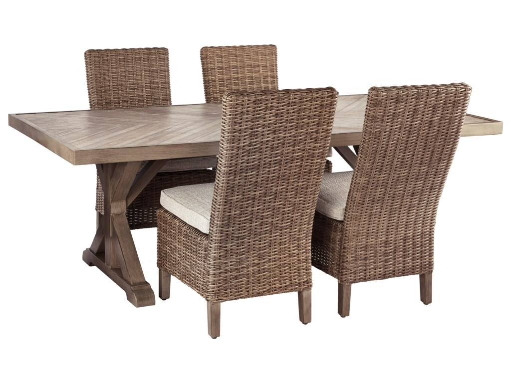 Signature Design by Ashley Beachcroft5 Piece Outdoor Dining Set
