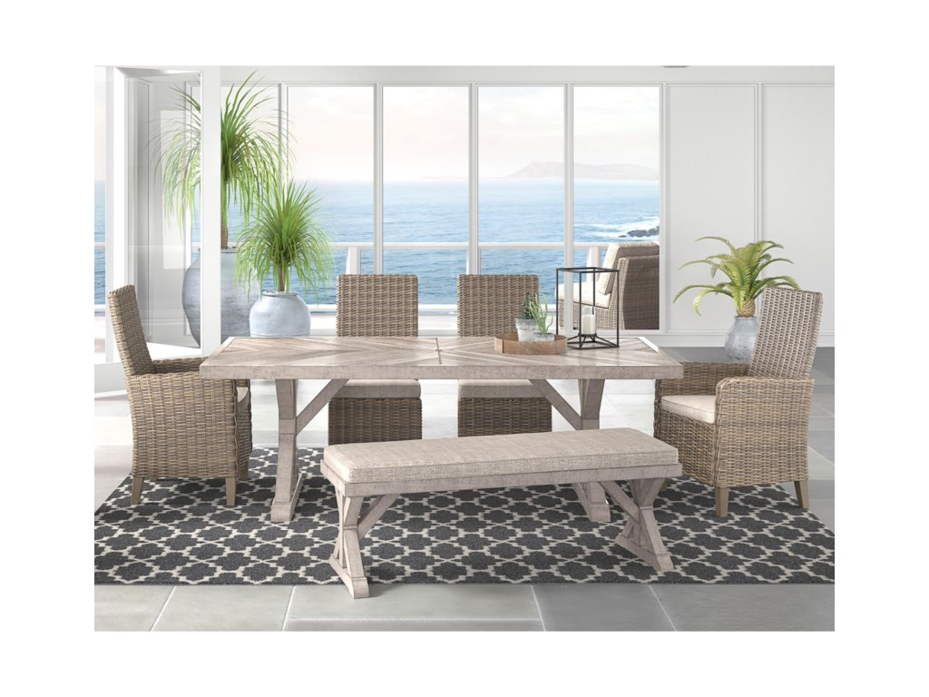 Signature Design by Ashley Beachcroft6 Piece Outdoor Dining Set