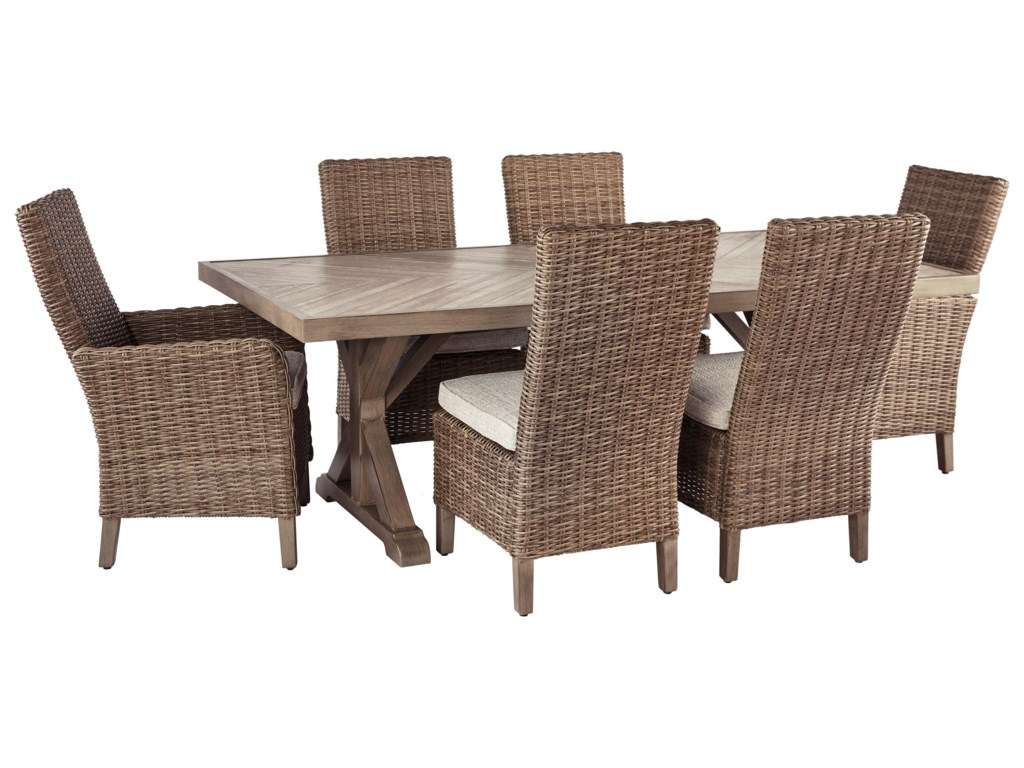 Signature Design by Ashley Beachcroft7 Piece Outdoor Dining Set