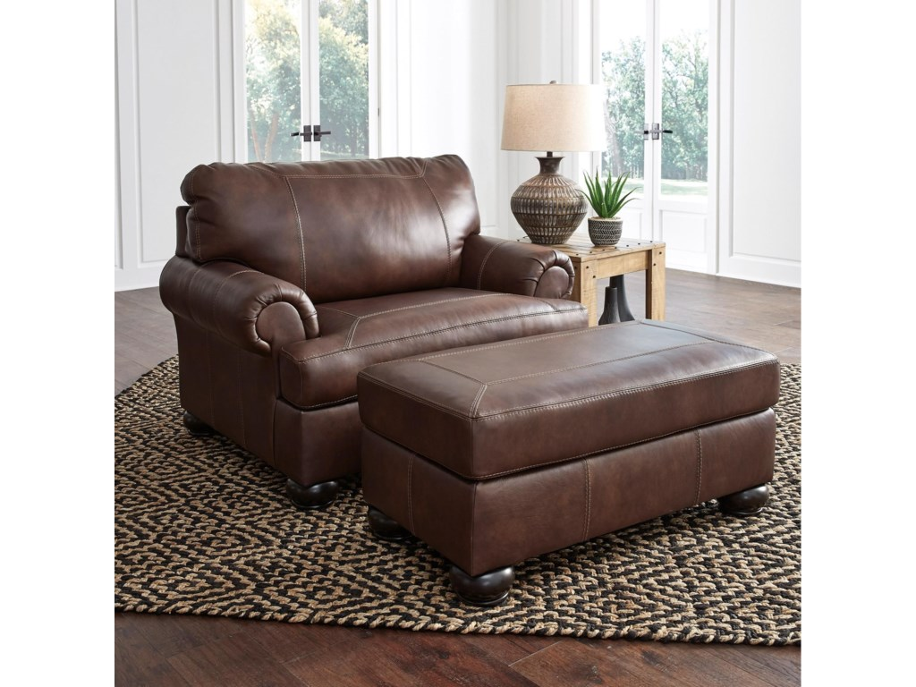 Signature Design by Ashley BearmertonChair and a Half with Ottoman
