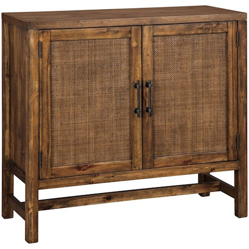Signature Design by Ashley Beckings Accent Cabinet with Woven Door Fronts