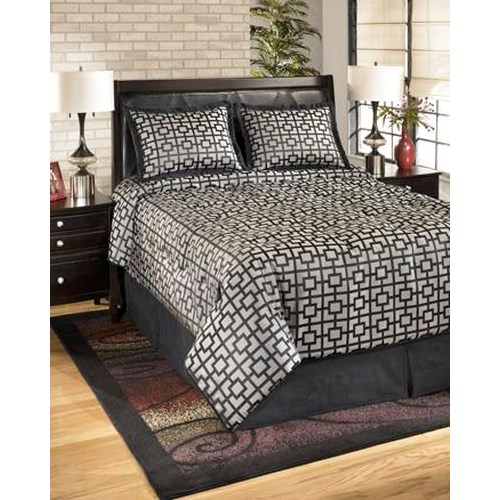 Signature Design by Ashley Bedding Sets King Maze Onyx Top of Bed Set