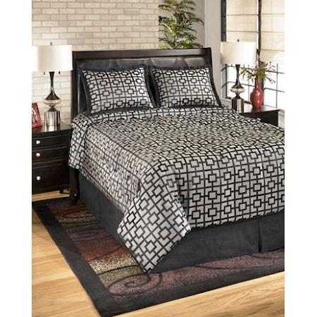 Queen Maze Onyx Top of Bed Set