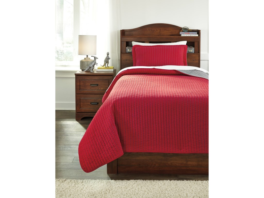 Ashley (Signature Design) Bedding SetsTwin Dansby Coverlet Set